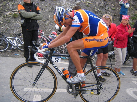 Michael Boogerd at Col du Galibier in Tour de France 2005